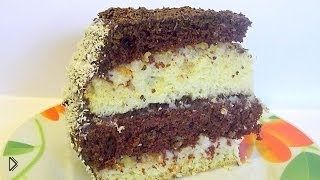 Смотреть онлайн Рецепт слоеного торта из бисквита