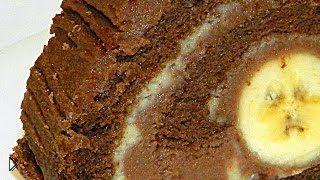 Смотреть онлайн Приготовление торта Банан в шоколаде