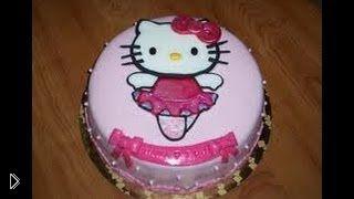 Смотреть онлайн Урок приготовления торта «Hello Kitty»