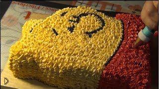 Украшаем детский торт портретом Винни-Пуха - Видео онлайн