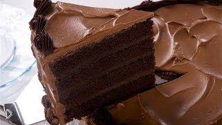 Смотреть онлайн Готовим торт Шоколадный, простой рецепт