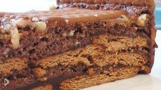 Смотреть онлайн Готовим торт из печенья и суфле