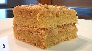 Смотреть онлайн Готовим Миндальный торт, простой рецепт