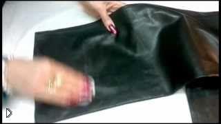 Смотреть онлайн Инструкция по удалению пятен с одежды из кожи