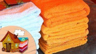 Смотреть онлайн Советы хозяйкам о том, как сложить полотенца