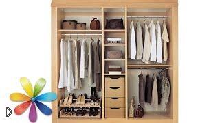 Организация хранения вещей в шкафу и экономия места - Видео онлайн