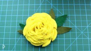 Простое украшение из фетра: делаем цветок - Видео онлайн