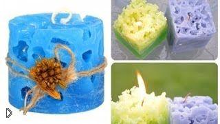 Смотреть онлайн Оригинальные ажурные свечи для дома