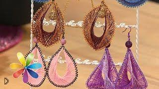Смотреть онлайн Handmade: сережки в технике ганутель