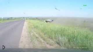 Страшная авария одного автомобиля, 17.06.2015 - Видео онлайн