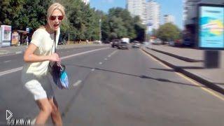 Смотреть онлайн Подборка: Пешеходы-счастливчики