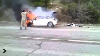 Смотреть онлайн Случайный очевидец потушил пламя лучше пожарных