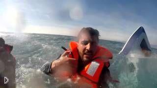 Смотреть онлайн Спасение капитана затонувшей яхты глазами спасателя