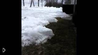 Ледник быстро надвигается на дома для отдыха - Видео онлайн