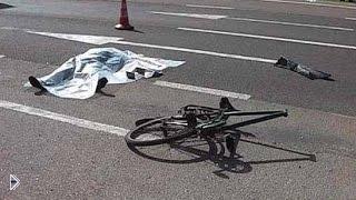 Смотреть онлайн Подборка: Аварии автолюбителей и велосипедистов