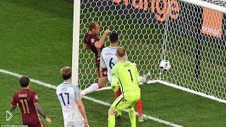 Смотреть онлайн Короткий обзор игры Англия-Россия 11.06.2016