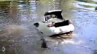 Смотреть онлайн Подборка: Люди топят машины в воде