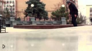 Смотреть онлайн Обучение трюку на скейте: Nollie bs 50-50 grind