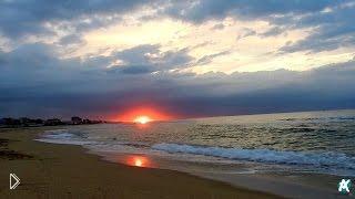 Встречаем рассвет на пляже HD - Видео онлайн