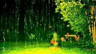 Смотреть онлайн Релакс: Ночной дождь с грозой