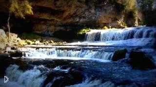 Беспрерывный водопад со звуком и без музыки - Видео онлайн