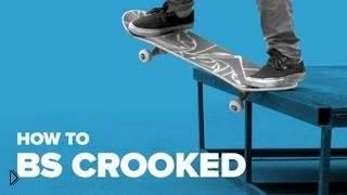 Смотреть онлайн Учимся трюку bs crooked, скейтбординг