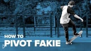 Смотреть онлайн Трюк пайвот фэйки делаем на скейтборде
