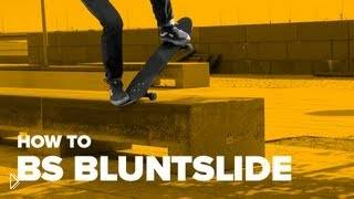 Смотреть онлайн Обучение трюку bs bluntslide на скейте