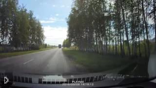Смотреть онлайн На большой скорости в машины влетают предметы