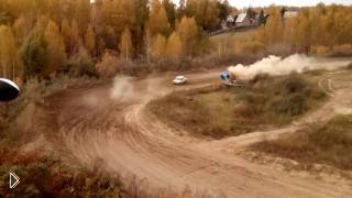 На гонках ралли жестко перевернулась машина - Видео онлайн