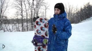 Смотреть онлайн Как научиться ездить на сноуборде