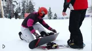 Смотреть онлайн Знакомство со сноубордингом для начинающих
