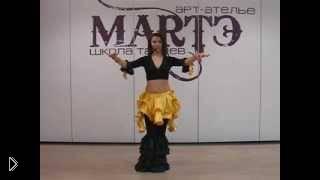 Смотреть онлайн Красивая связка движений в танце живота