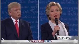 Смотреть онлайн На лицо Хиллари Клинтон села муха