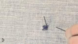 Смотреть онлайн Бахромчатый шов в вышивке крестиком