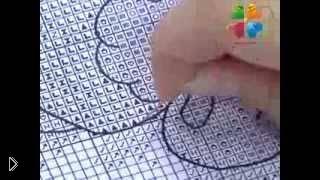Как шить крестиком по схеме, урок для новичков - Видео онлайн