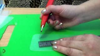 Смотреть онлайн Вышивание: делаем органайзер для нитей