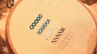 Смотреть онлайн Оригинальный красивый шов для вышивки крестиком