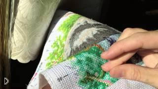 Смотреть онлайн Как вышивать крестиком по нанесенному рисунку