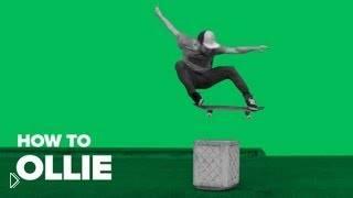 Смотреть онлайн Базовый трюк ollie на скейтборде