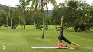 Смотреть онлайн Йога для ног и ягодиц, комплекс упражнений