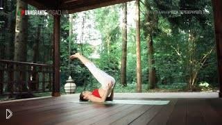 Смотреть онлайн Випарита карани, поза перевернутого тела в йоге