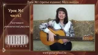 Изучение эстрадного боя на гитаре - Видео онлайн