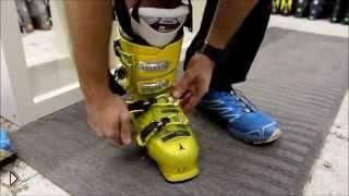 Учимся надевать и снимать ботинки для горнолыжки - Видео онлайн