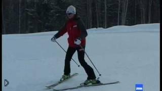 Смотреть онлайн Учимся ездить на горных лыжах, урок для новичков