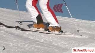 Учимся скользить с горы на параллельных лыжах - Видео онлайн