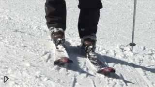 Скользим траверсом на кантах лыж - Видео онлайн