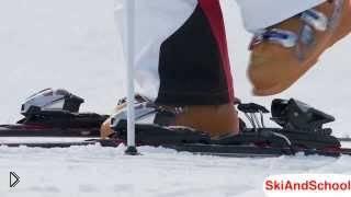 Упражнения для привыкания к горным лыжам - Видео онлайн