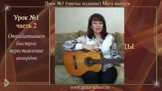 Смотреть онлайн Как правильно держать гитару, учим аккорды Am, E, Dm