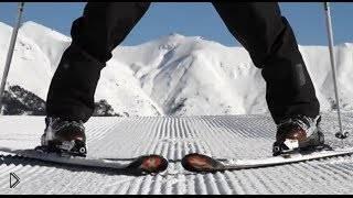 Смотреть онлайн Учимся тормозить плугом на горных лыжах
